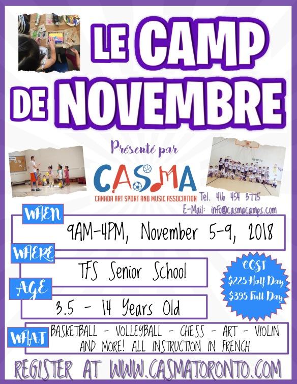 LE CAMP DE NOVEMBRE